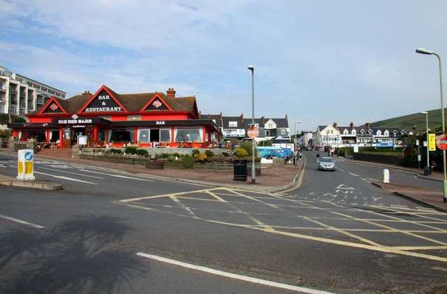 Red Barn restaurant and Barton Road at Woolacombe