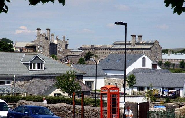 Looking across Princetown to Dartmoor Prison