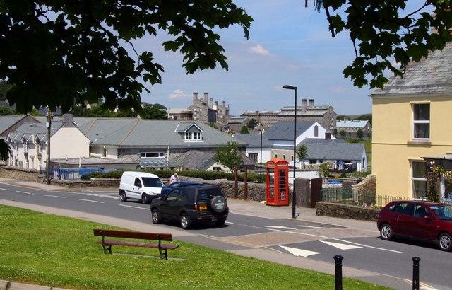 Tavistock Road in Princetown