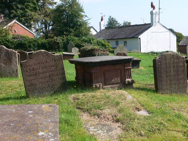 Gravestones at St Nicholas', Burton-in-Wirral