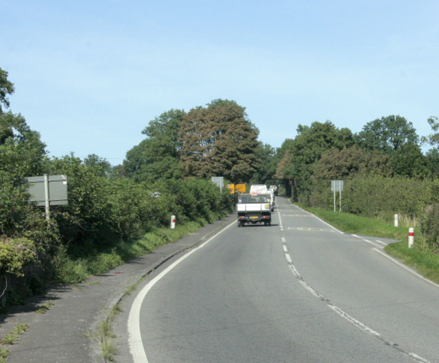 2009 : A37 heading north to Shepton Mallet