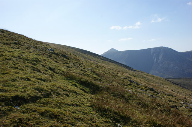 The approach to Foel Graig - from here you can see how Mynedd Perfedd got its name