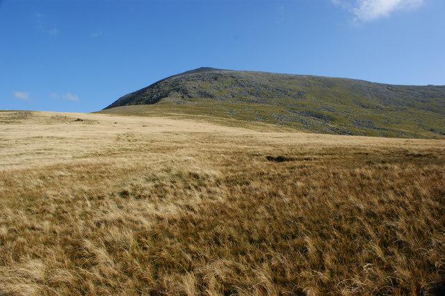 A view of Carnedd Dafydd from Foel Craig