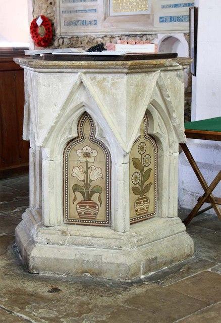St Andrew, Boreham, Essex - Font