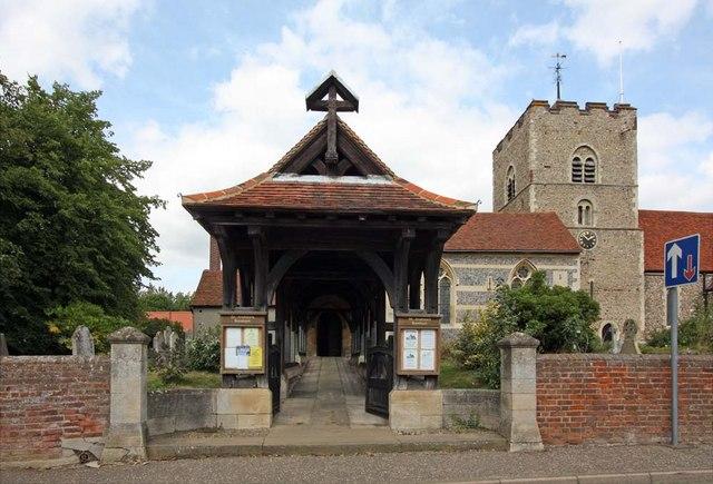 St Andrew, Boreham, Essex - Lych gate