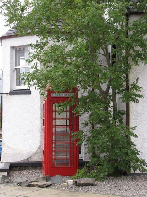 Traditional phone box, Plockton.
