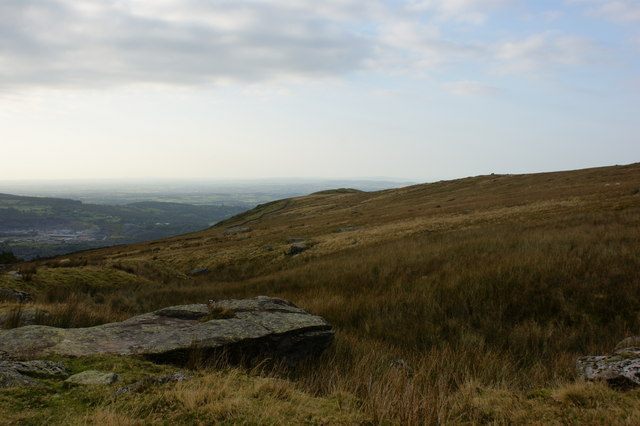A view across the moorland to Clogwyn Tro
