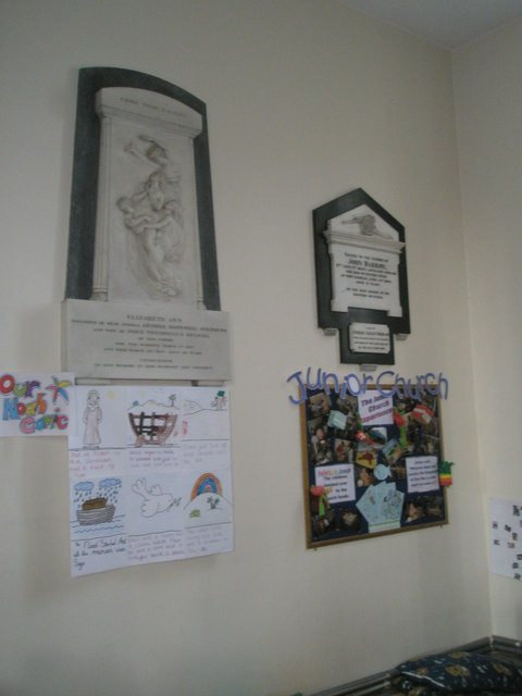 Memorials on the west wall at Holy Trinity, Fareham (2)