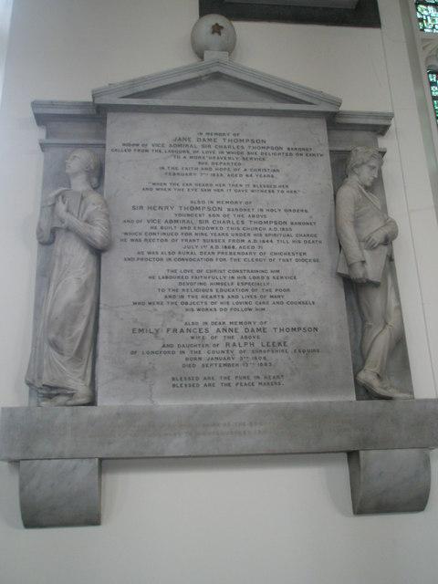 Memorials on the north wall at Holy Trinity, Fareham (3)