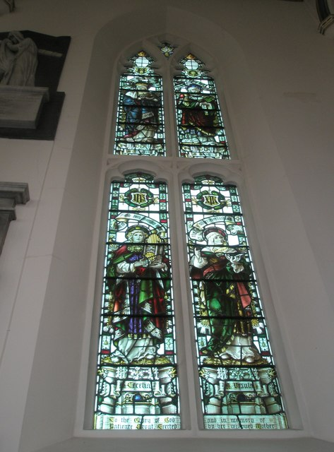 Stained glass window on the north wall at Holy Trinity, Fareham