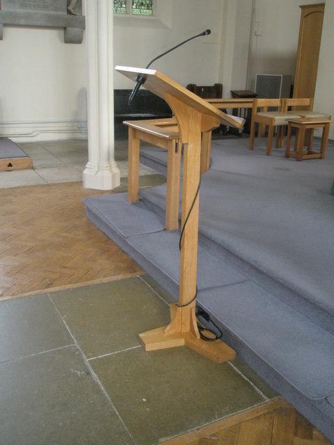 Modern lectern within Holy Trinity, Fareham