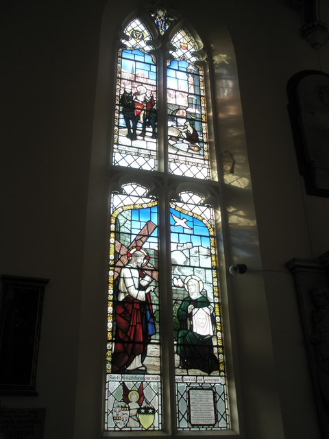Stained glass window on the south wall at Holy Trinity, Fareham