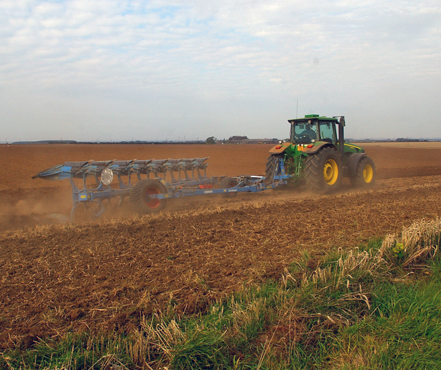Ploughing near Worlaby