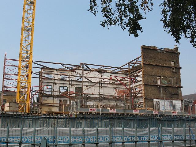 Building behind the facade