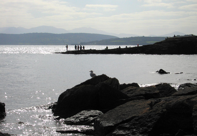 Fishing off the headland at Moelfre
