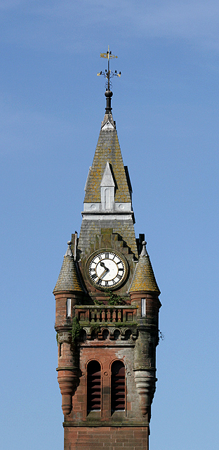 The clock tower of Annan Town Hall