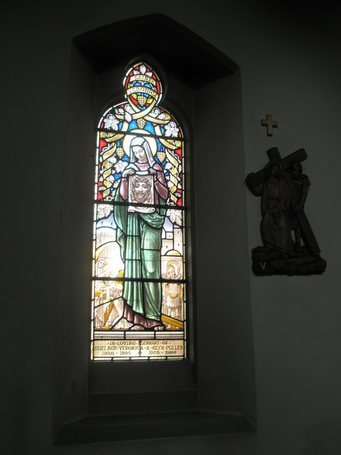 Stained glass window on the north wall at Sacred Heart RC Church, Fareham (1)