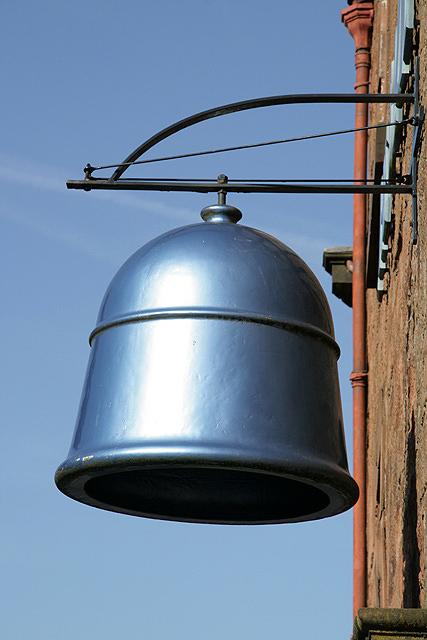 The bell outside the Blue Bell Inn, Annan