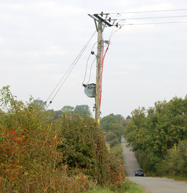 Electricity transformer southeast of Napton