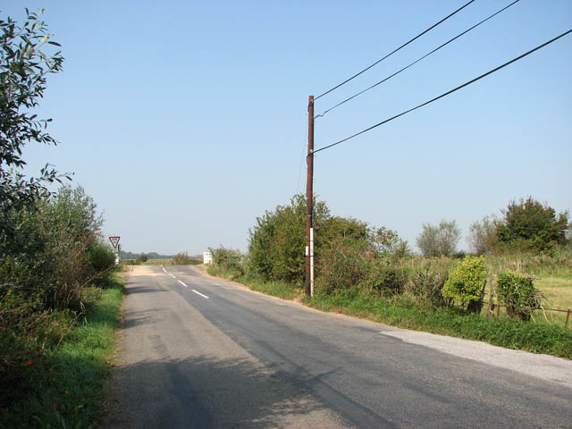 Approaching the A1064 on New Road