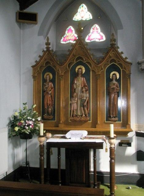 Side altar at Sacred Heart RC Church, Fareham