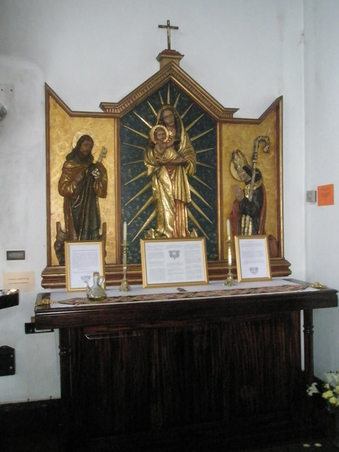 Devotional area within Sacred Heart RC Church, Fareham