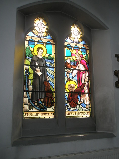 Stained glass window on the south wall at Sacred Heart RC Church, Fareham (1)