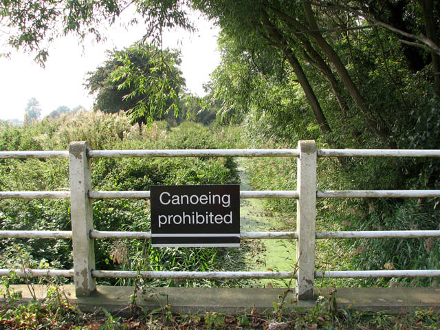 Canoeing prohibited on Muck Fleet