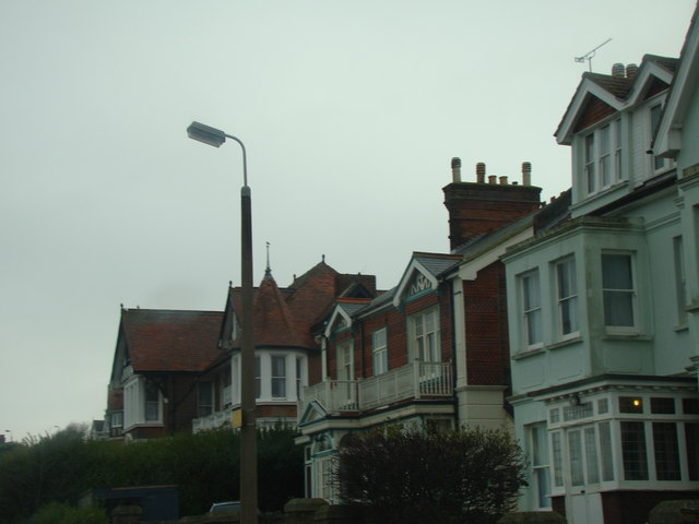 Lamp post and houses on Beacon Hill