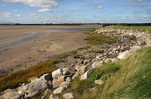 Sea defences at Redkirk Point