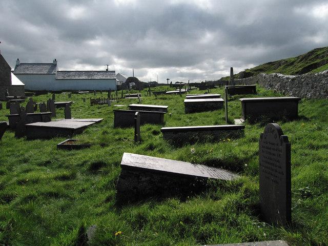 Graves at the church of Saint Patrick, Llanbadrig