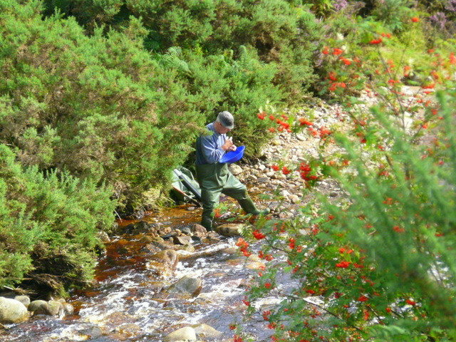 Panning for gold at Baile an Or, Kildonan.