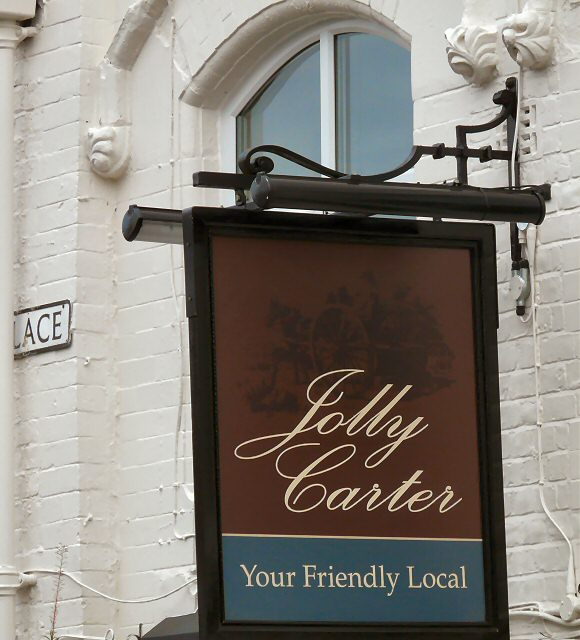 Sign for the Jolly Carter