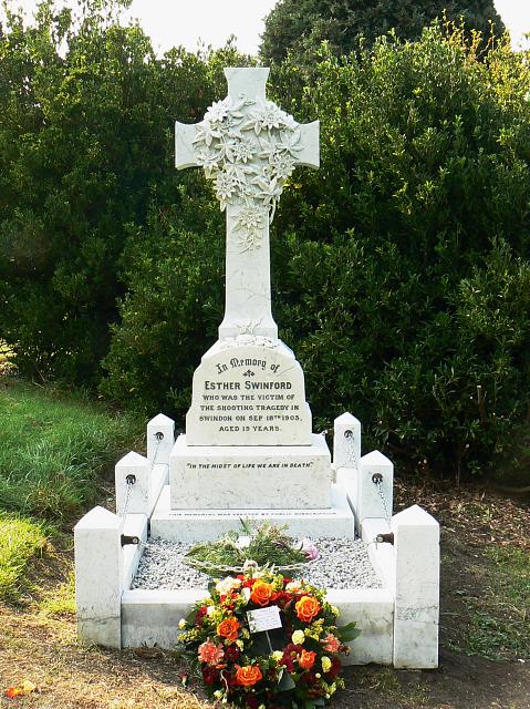The grave of Esther Swinford, Radnor Street cemetery, Swindon