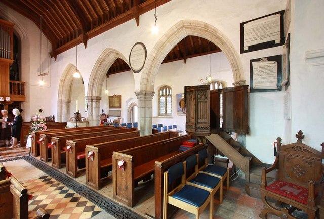 St Andrew, Sandon, Essex - North arcade