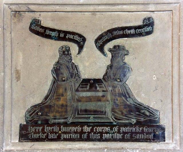 St Andrew, Sandon, Essex - Brass
