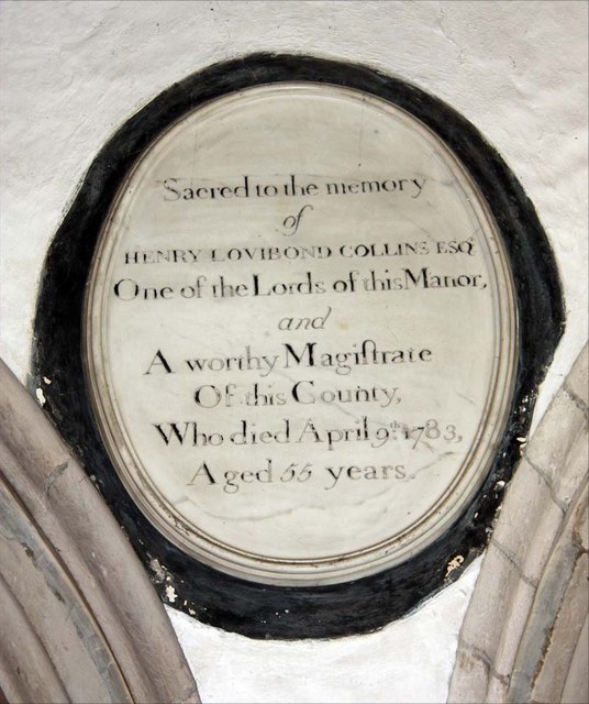 St Andrew, Sandon, Essex - Wall monument