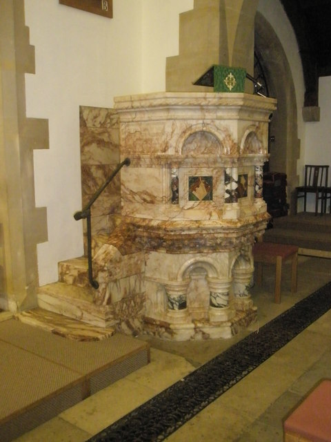 The pulpit at St Barnabas, Swanmore