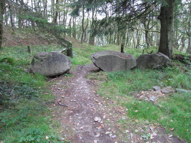 A boulder barrier