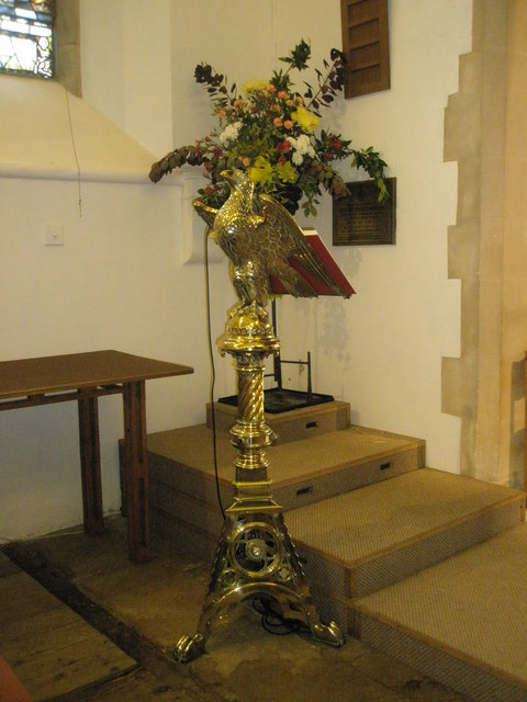 The lectern at St Barnabas, Swanmore