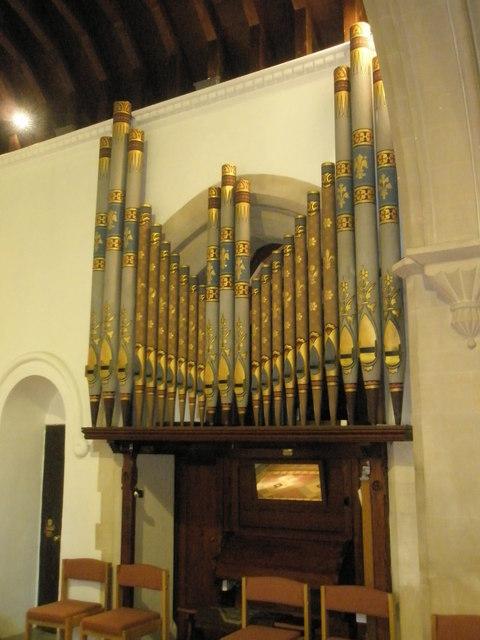 The organ at St Barnabas, Swanmore