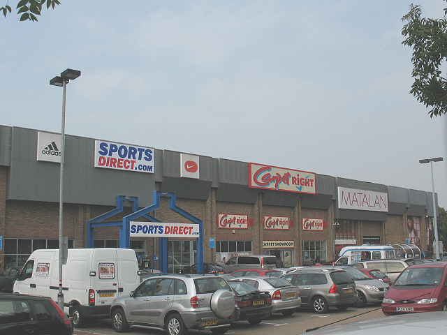 Retail park on Thurston Road