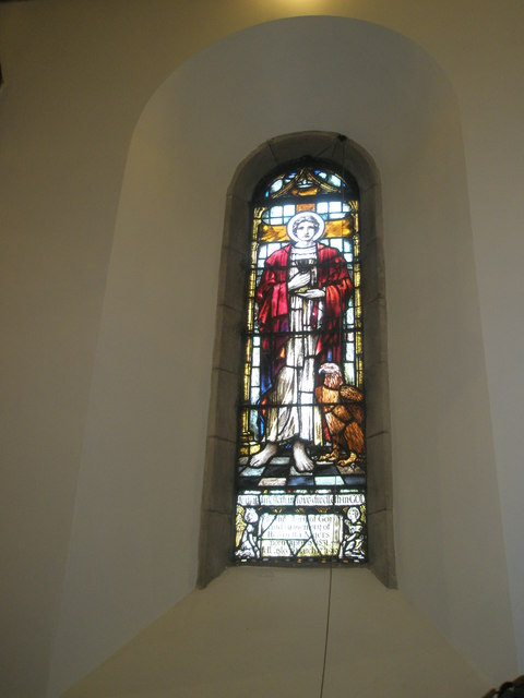 Stained glass window on the north wall at St Barnabas, Swanmore (2)