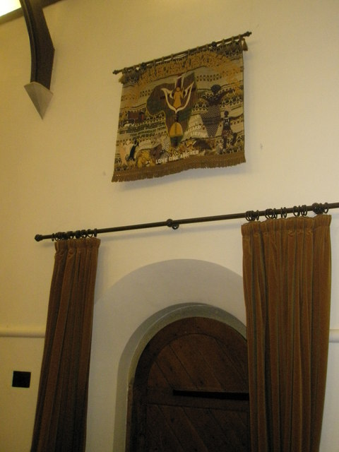 Artwork above the north wall at St Barnabas, Swanmore