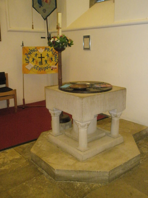 The font at St Barnabas, Swanmore
