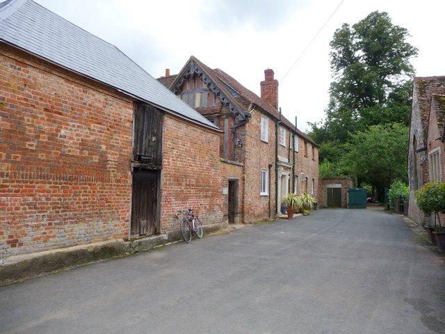 Side entrance to Dorney Court on left, St  James at end on right