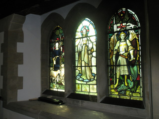 Stained glass window on the south wall at St Barnabas, Swanmore (1)
