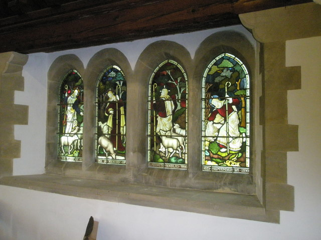 Stained glass window on the south wall at St Barnabas, Swanmore (2)