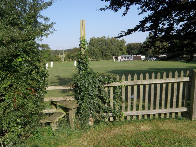 Footpath across the cricket ground