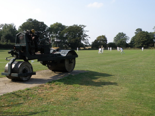 Old roller at Little Casterton cricket ground